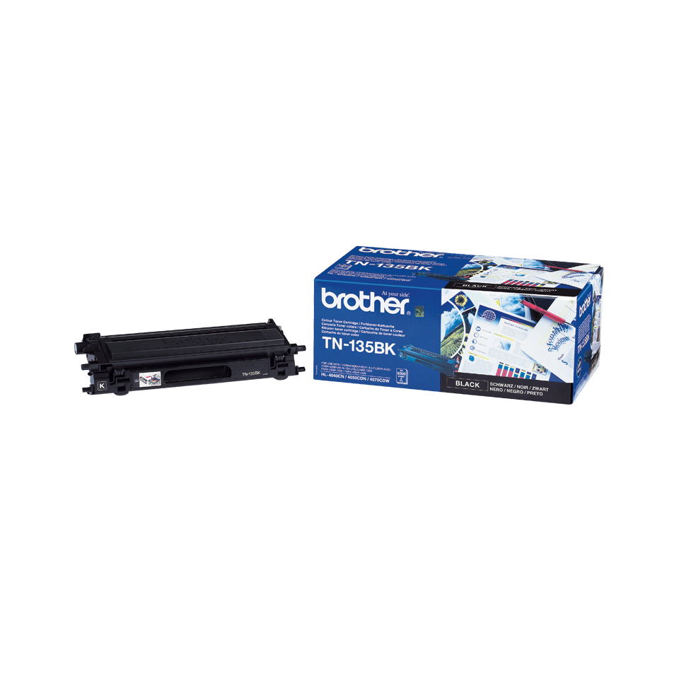 Original Brother TN135BK stor toner – sort