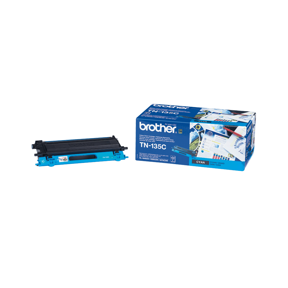 Original Brother TN135C stor toner – cyan