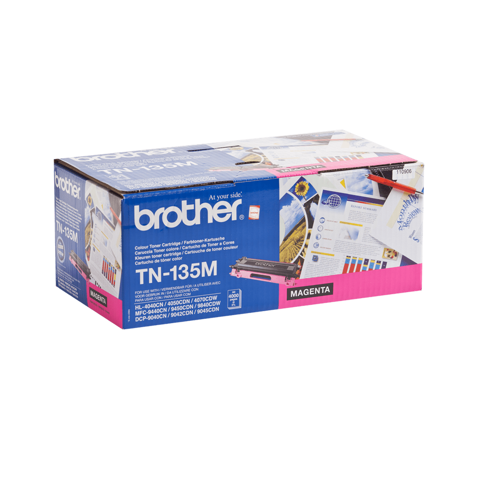 Original Brother TN135M stor toner – magenta  2