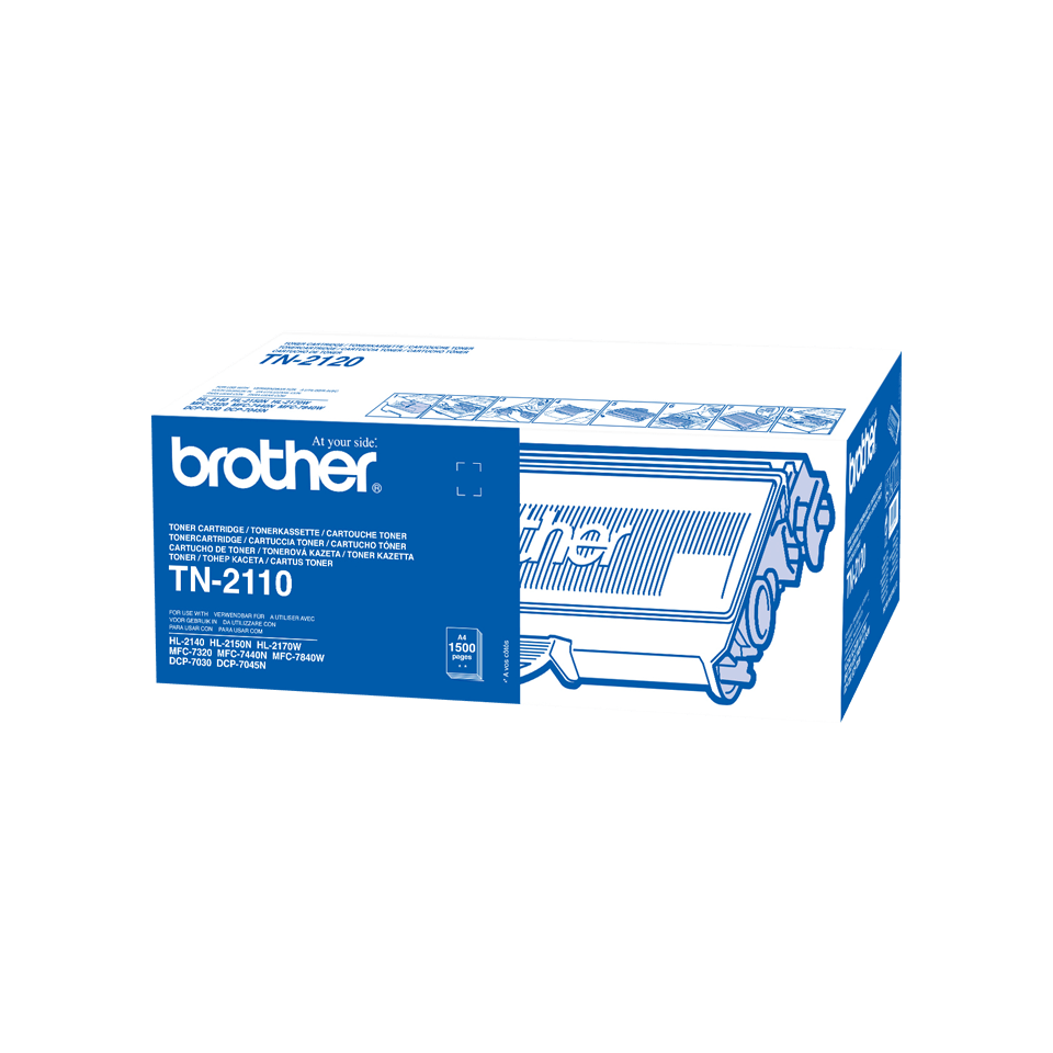 Original Brother TN2110 toner – sort