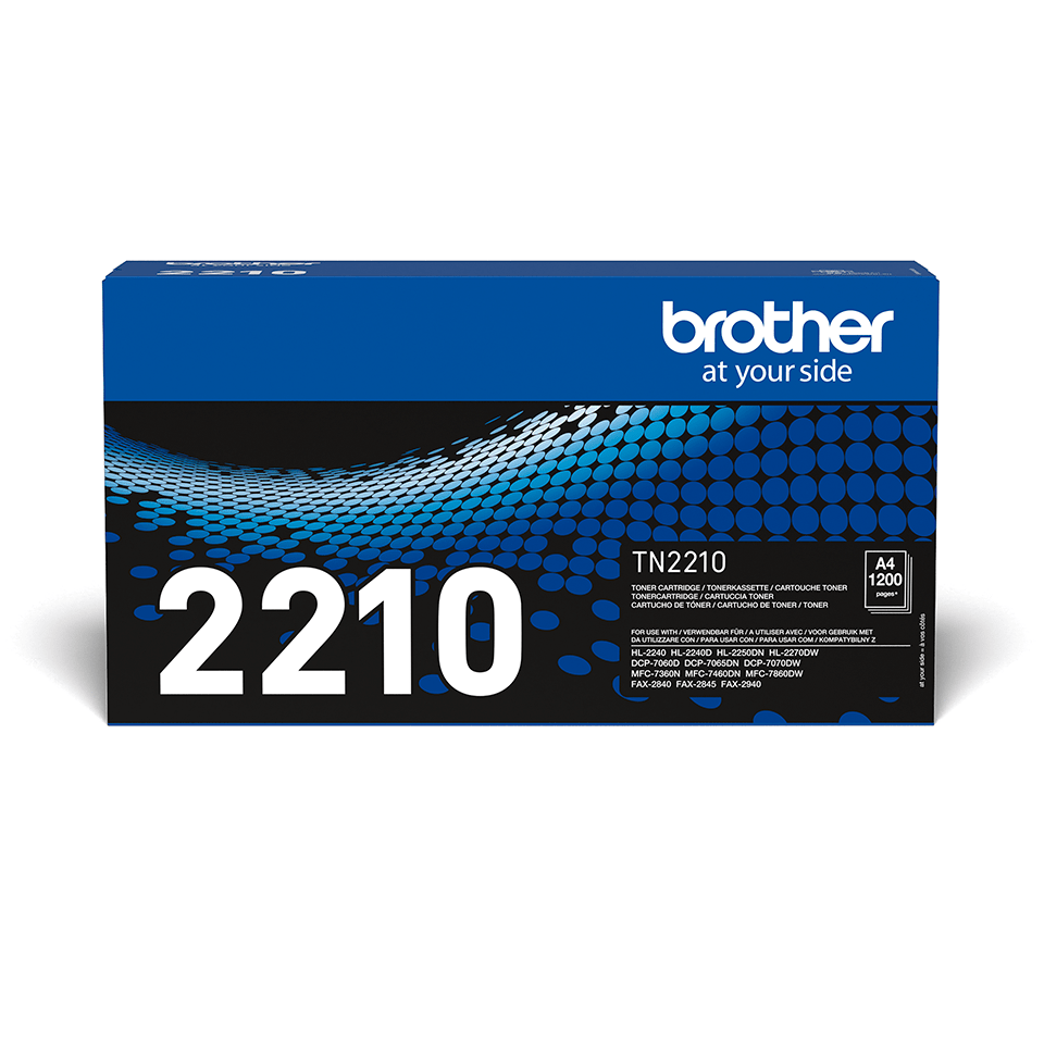 Original Brother TN2210 sort toner 2