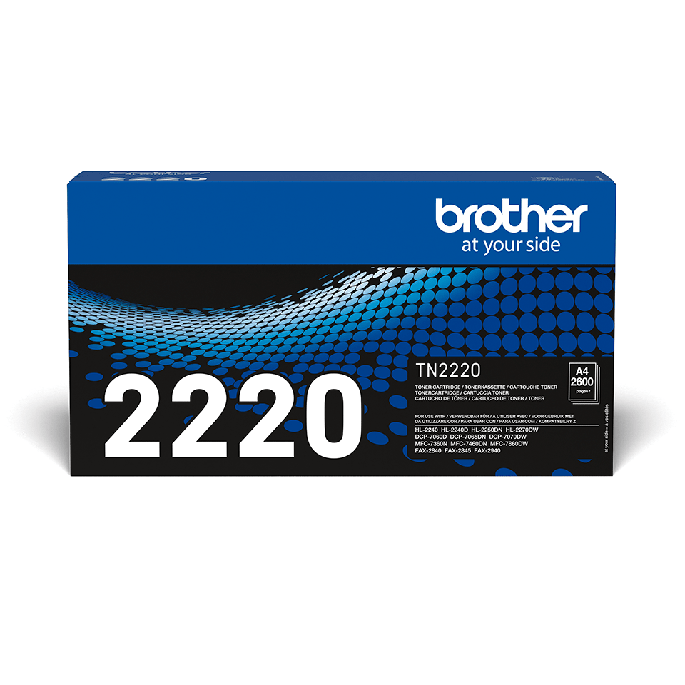 Original Brother TN2220 stor sort toner
