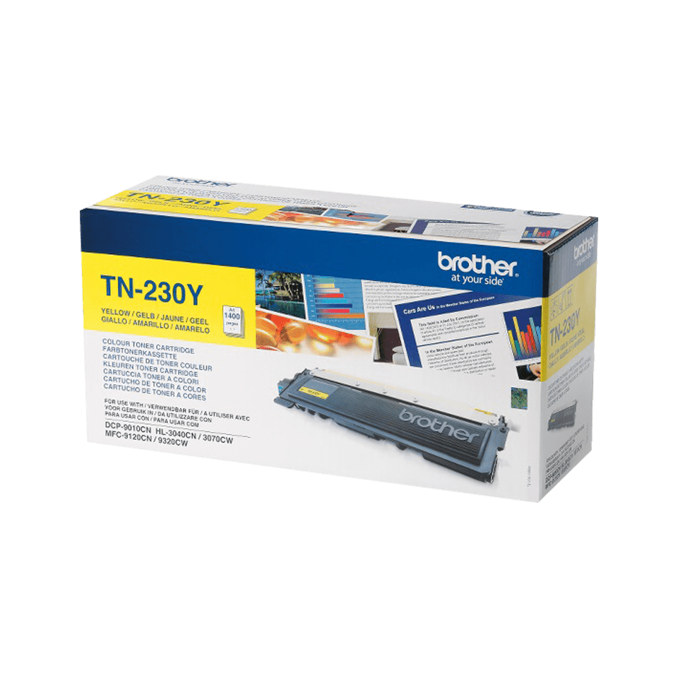 Original Brother TN230Y toner – gul