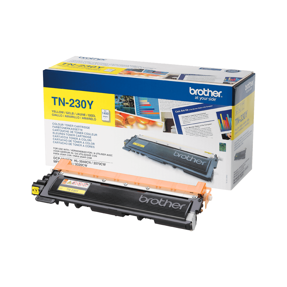 Original Brother TN230Y toner – gul 2