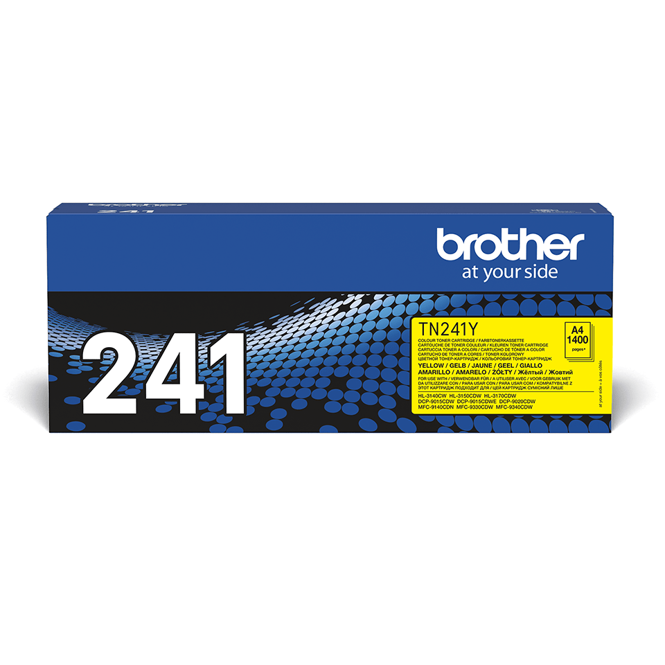 Original Brother TN241Y toner – gul 2