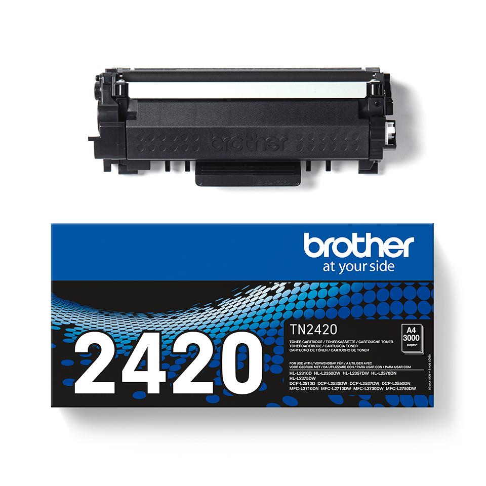 Original Brother TN-2420 sort toner 2