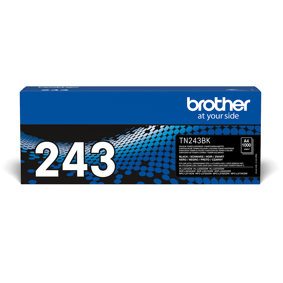 Original Brother TN243BK toner - sort