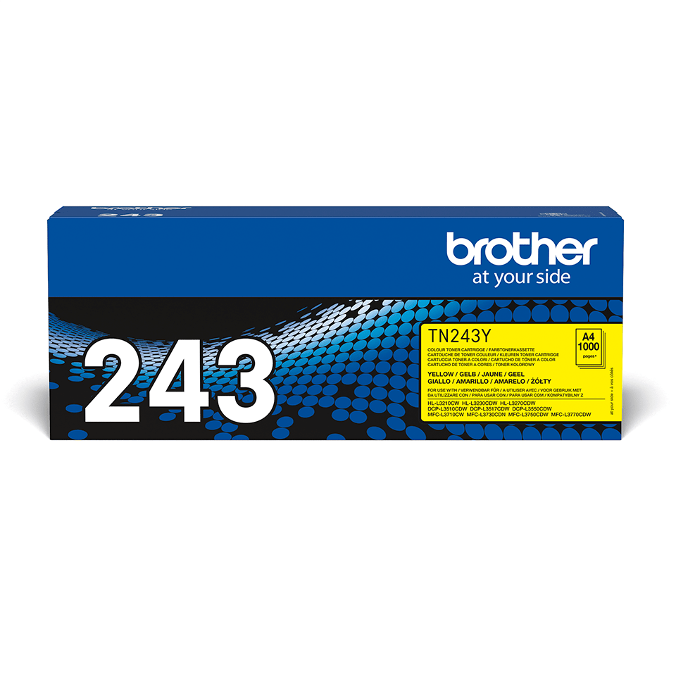 Original Brother TN243Y toner - gul 2