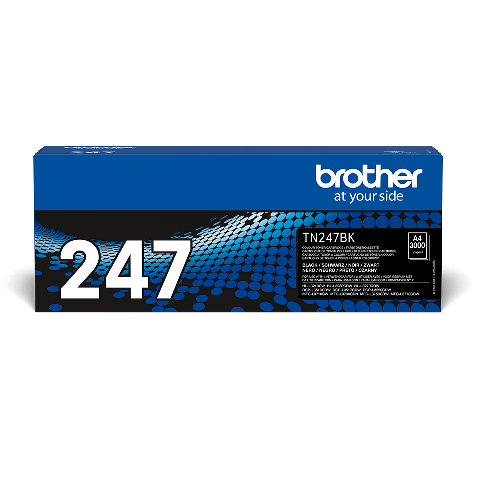 Original Brother TN247BK toner - sort