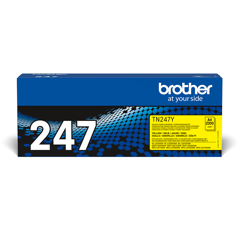 Original Brother TN247Y toner - gul