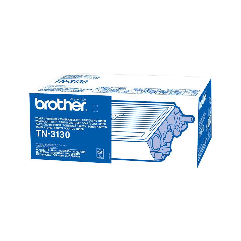 Original Brother TN3130 stor toner – sort
