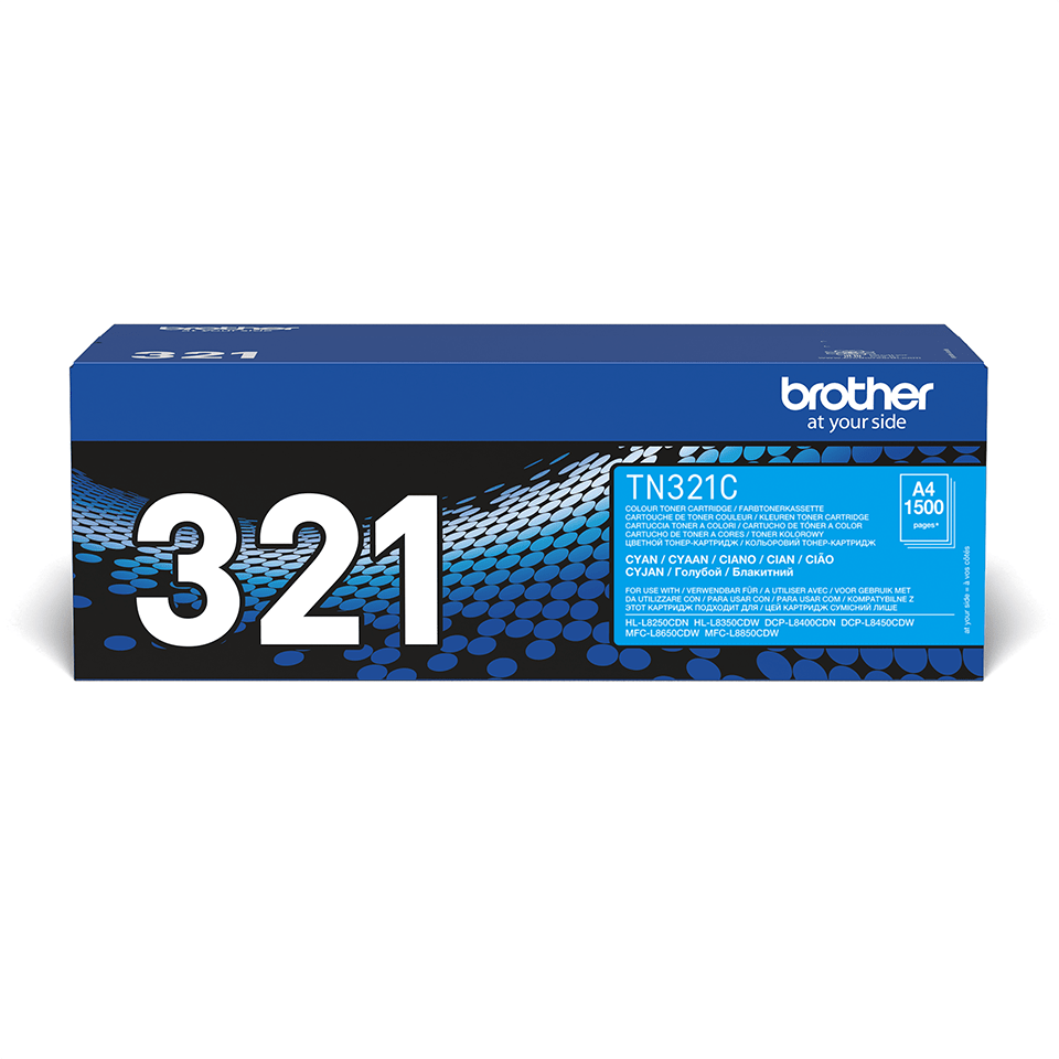 Original Brother TN321C toner – cyan