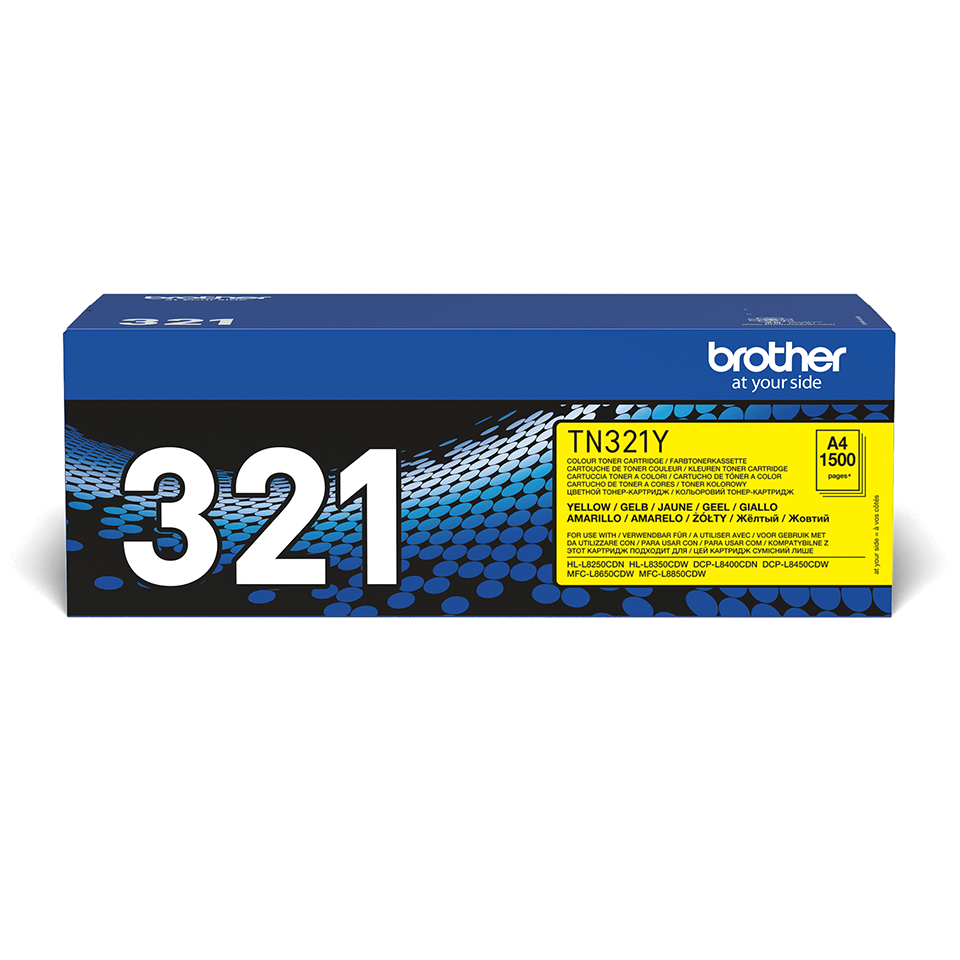 Original Brother TN321Y toner – gul