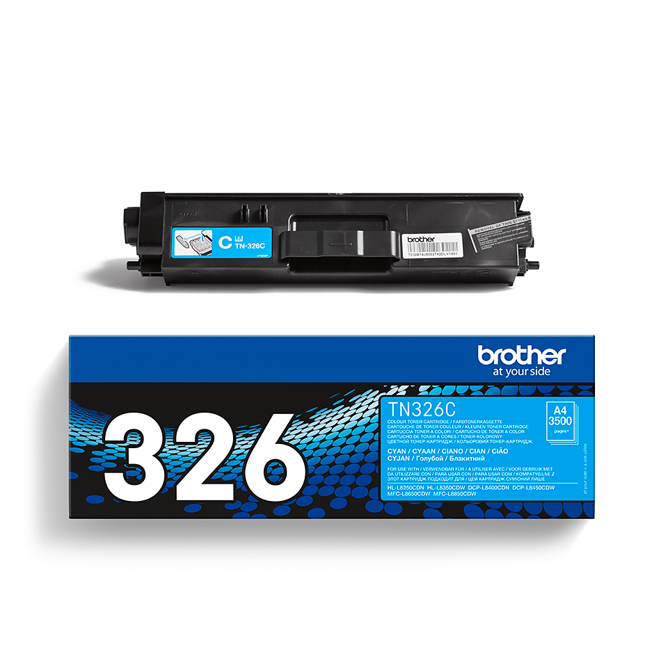 Original Brother TN326C toner – cyan 2