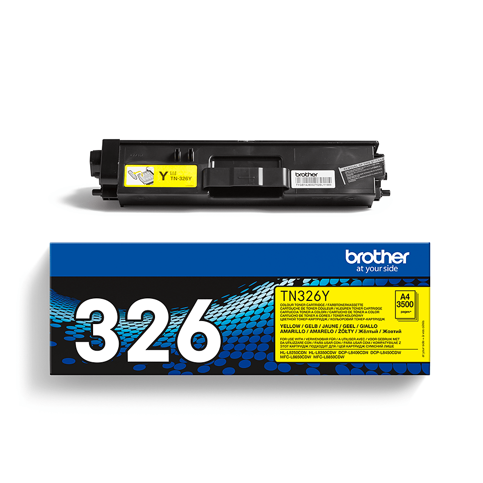Original Brother TN326Y toner – gul 2