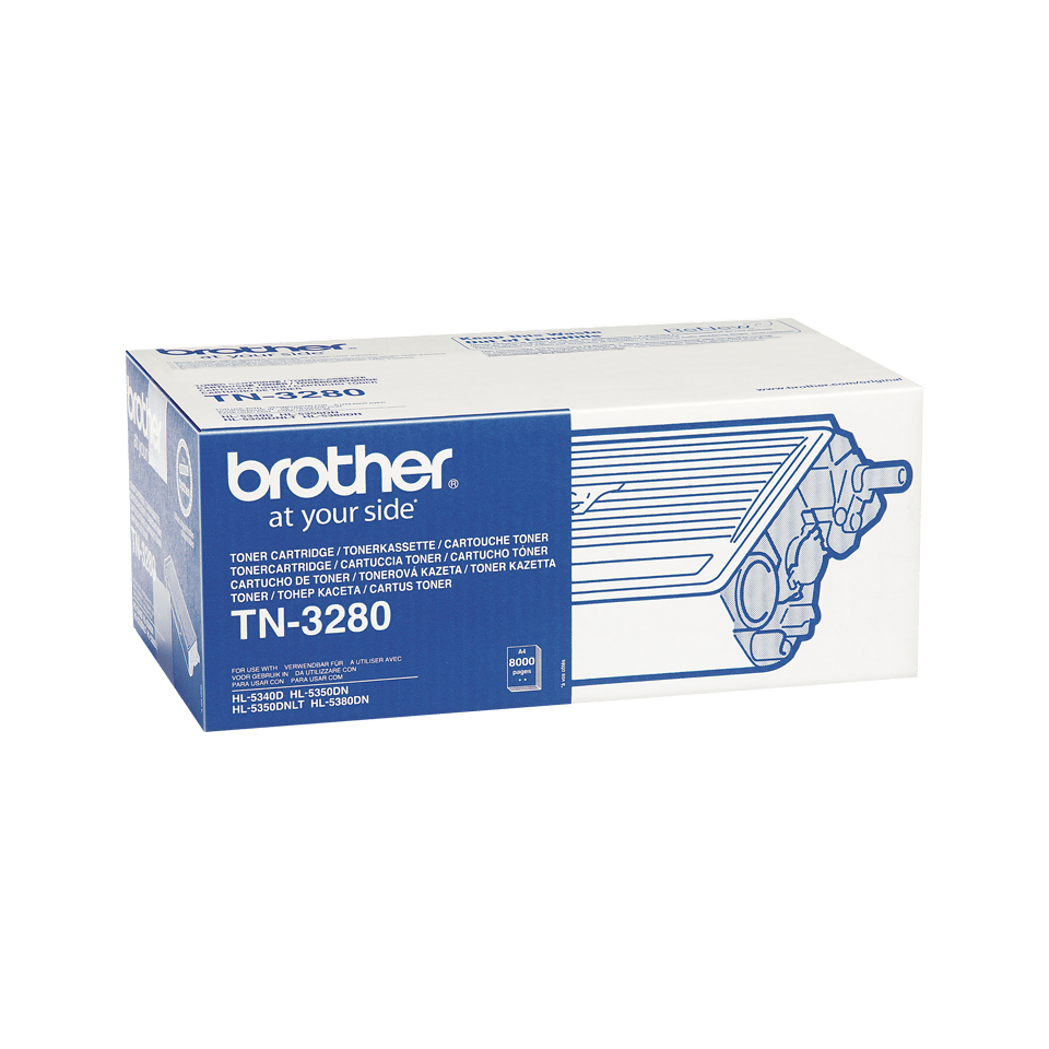 Original Brother TN3280 stor sort toner 2