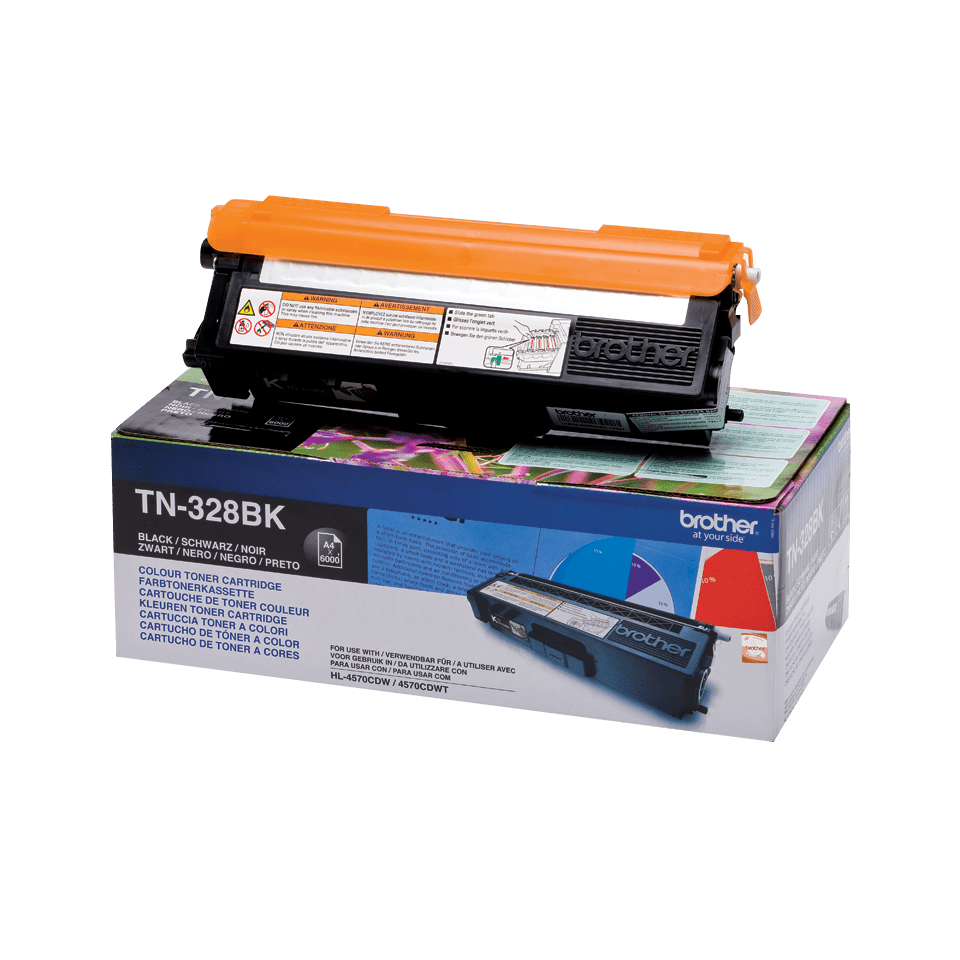 Original Brother TN328BK toner – sort