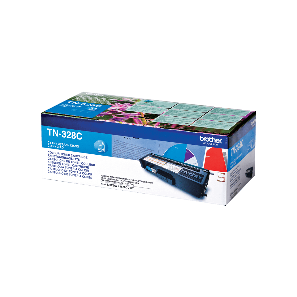Original Brother TN328C toner – cyan