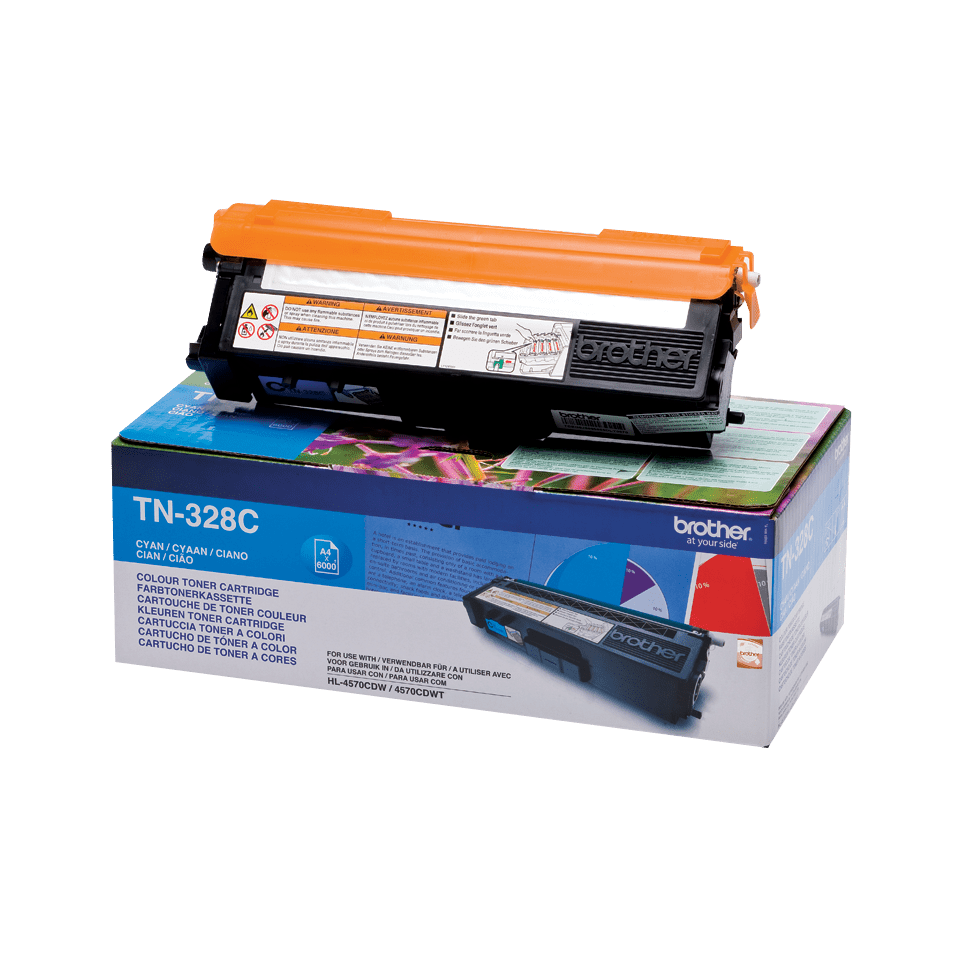 Original Brother TN328C toner – cyan 2