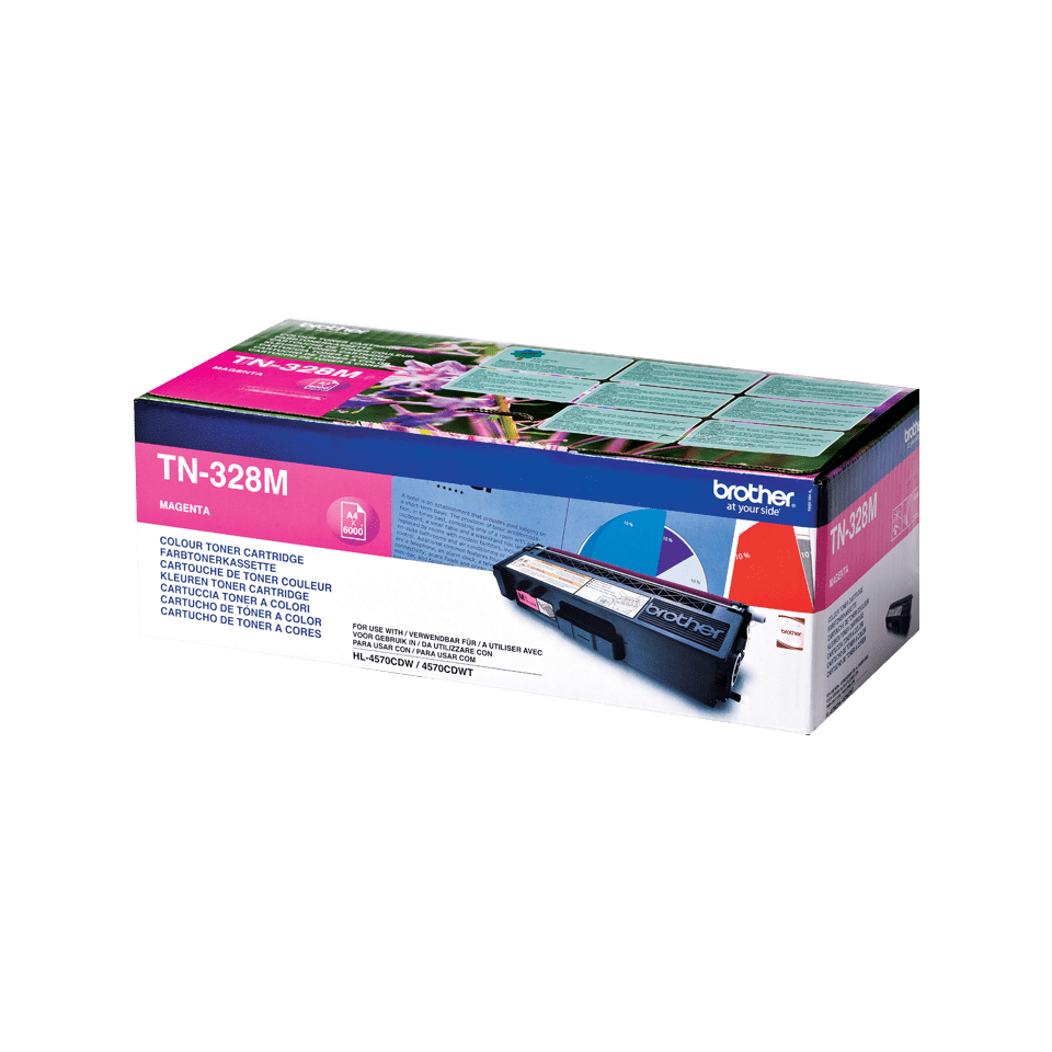 Original Brother TN328M toner – magenta
