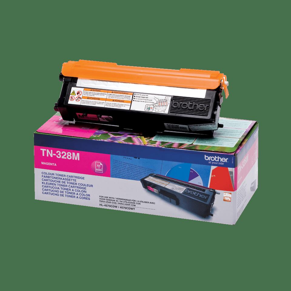 Original Brother TN328M toner – magenta 2
