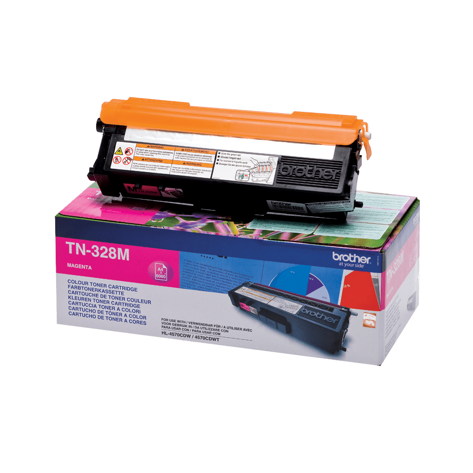 Original Brother TN328M toner – magenta 2