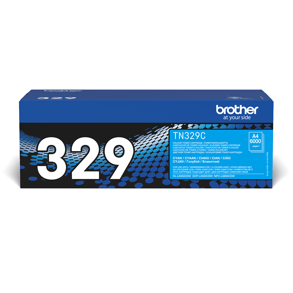 Original Brother TN329C toner – cyan