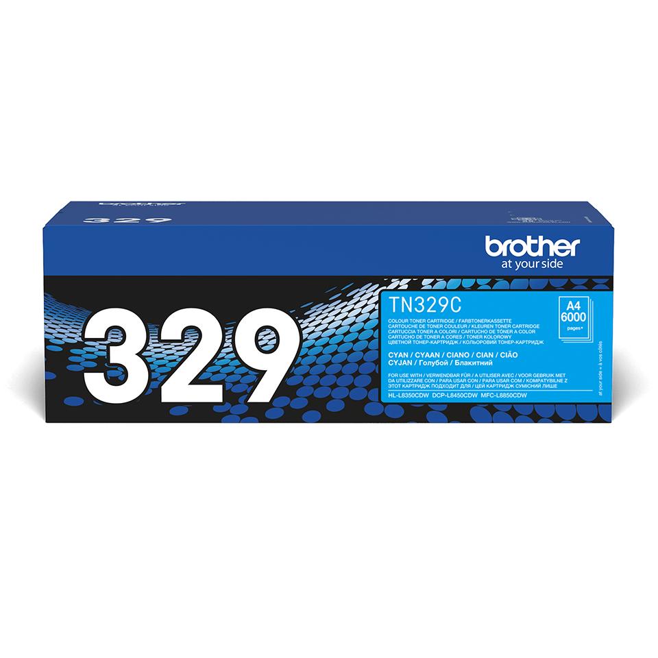 Original Brother TN329C toner – cyan