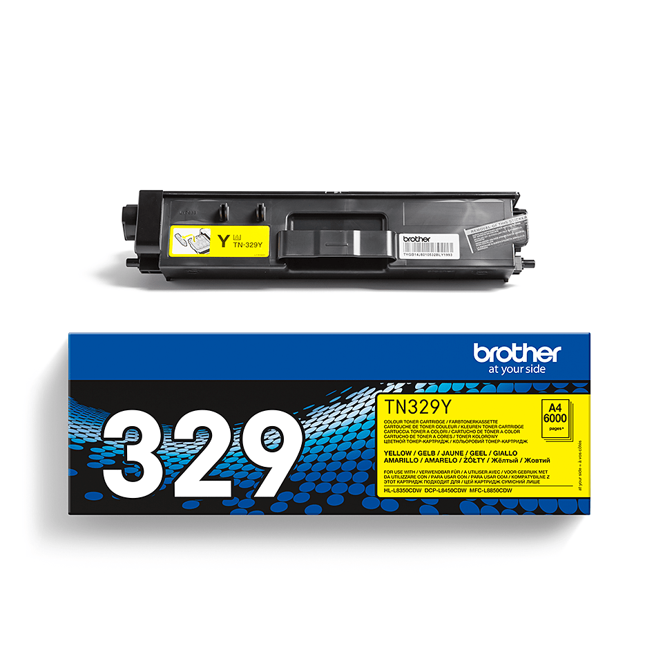 Original Brother TN329Y toner – gul 2