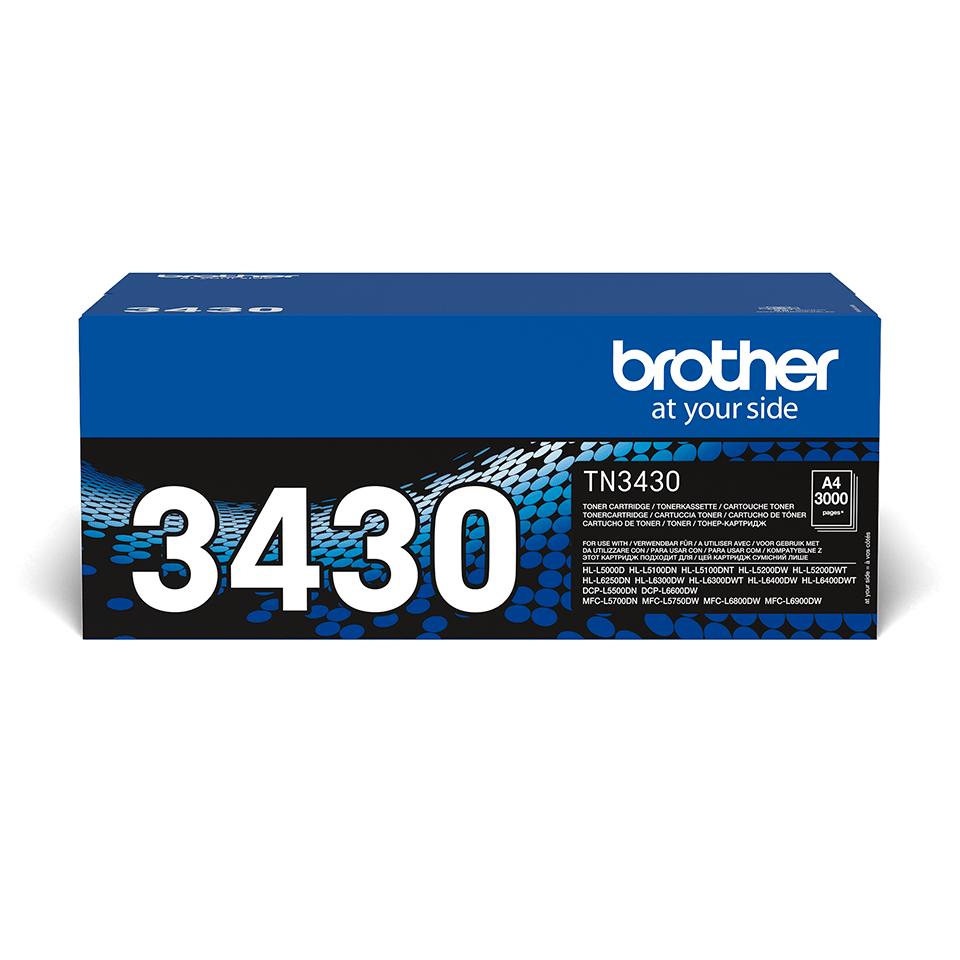 Original Brother TN3430 toner – sort