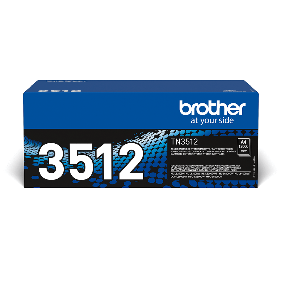 Original Brother TN3512 stor sort toner