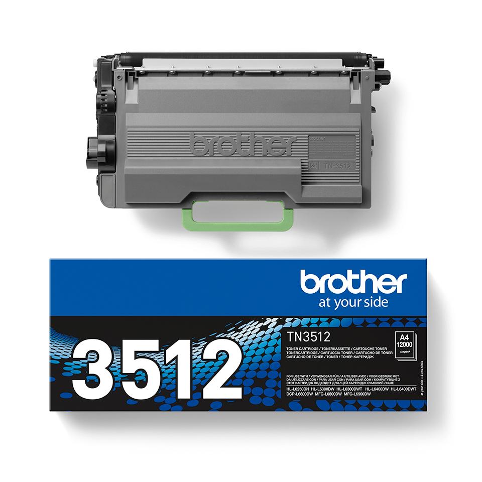 Original Brother TN3512 stor sort toner 2