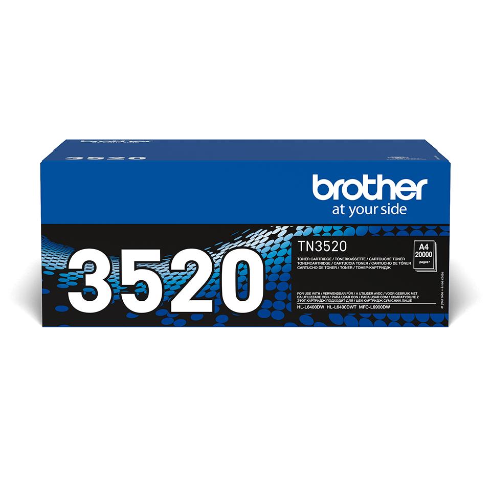 Original Brother TN3520 ekstra stor sort toner