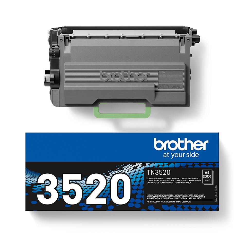Original Brother TN3520 ekstra stor sort toner 2