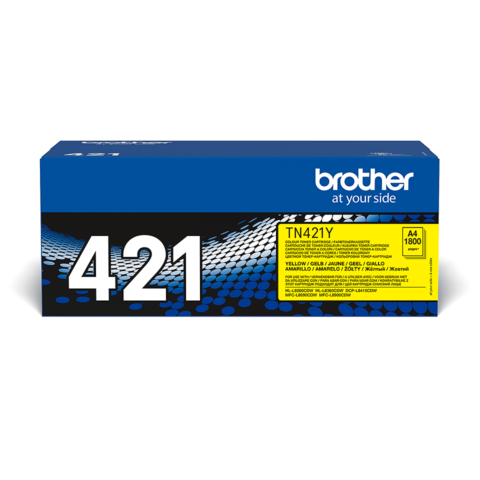 Brother TN-421Y toner - gul