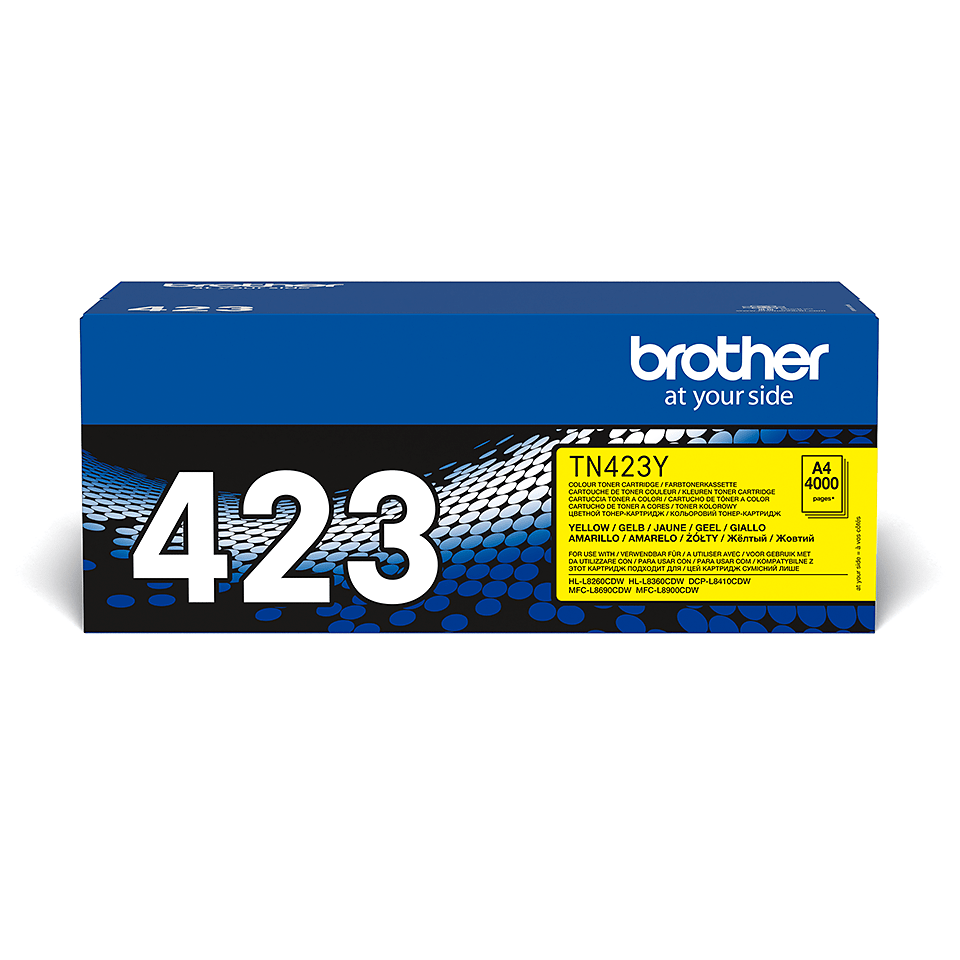 Original Brother TN423Y toner – gul