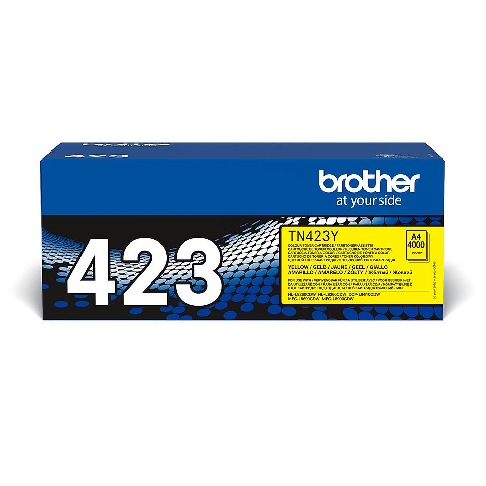Original Brother TN423Y toner – gul