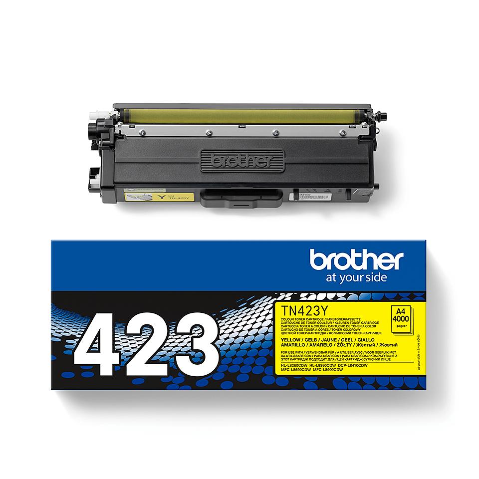 Brother TN-423Y toner - gul 1