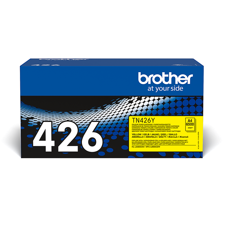 Original Brother TN426Y toner – gul 2