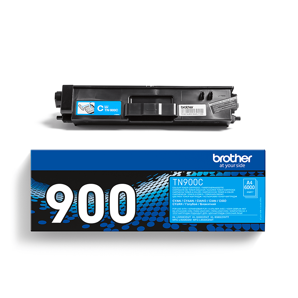 Original Brother TN900C toner – cyan 2