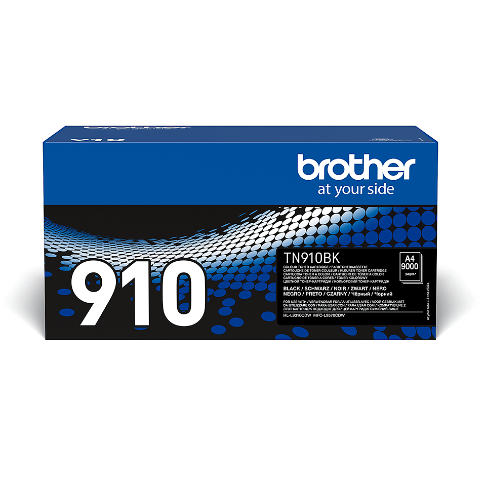 Original Brother TN910BK toner – sort