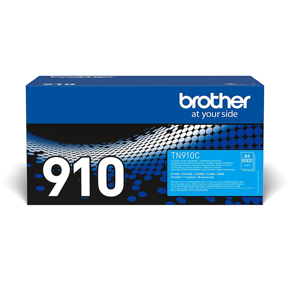 Original Brother TN910C toner – cyan
