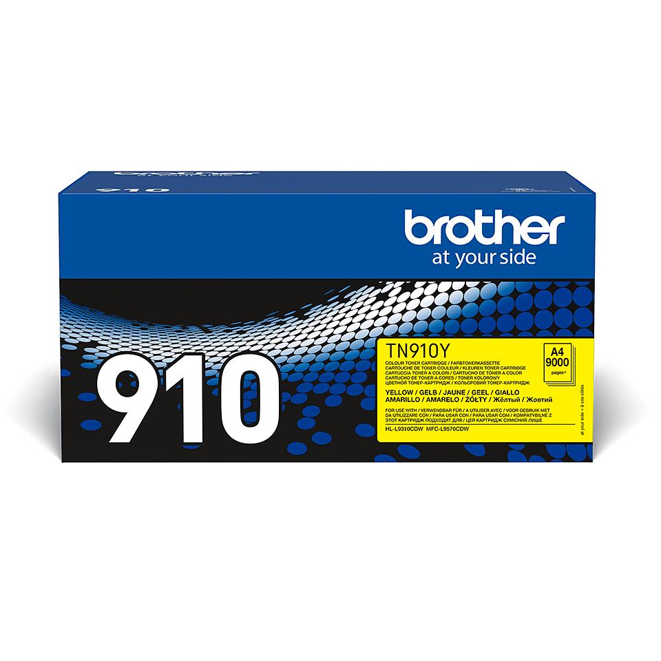 Original Brother TN910Y tonerpatron – gul