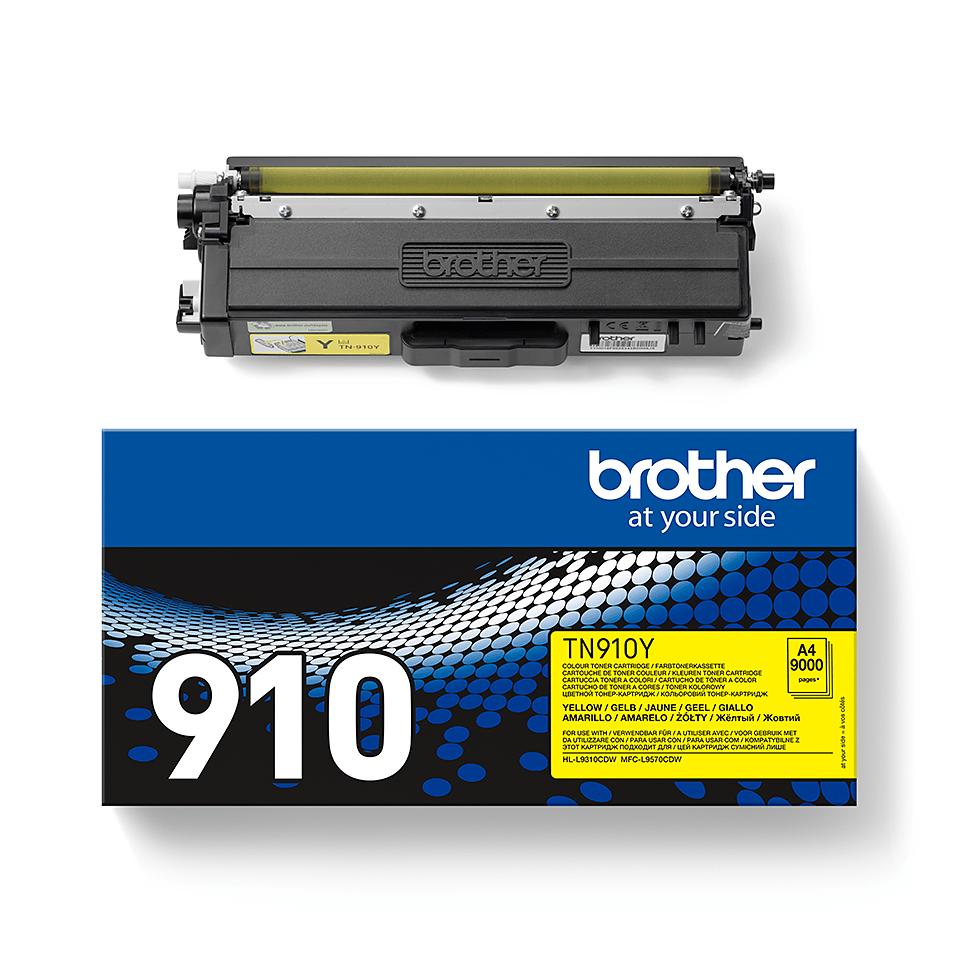 Original Brother TN910Y tonerpatron – gul 2
