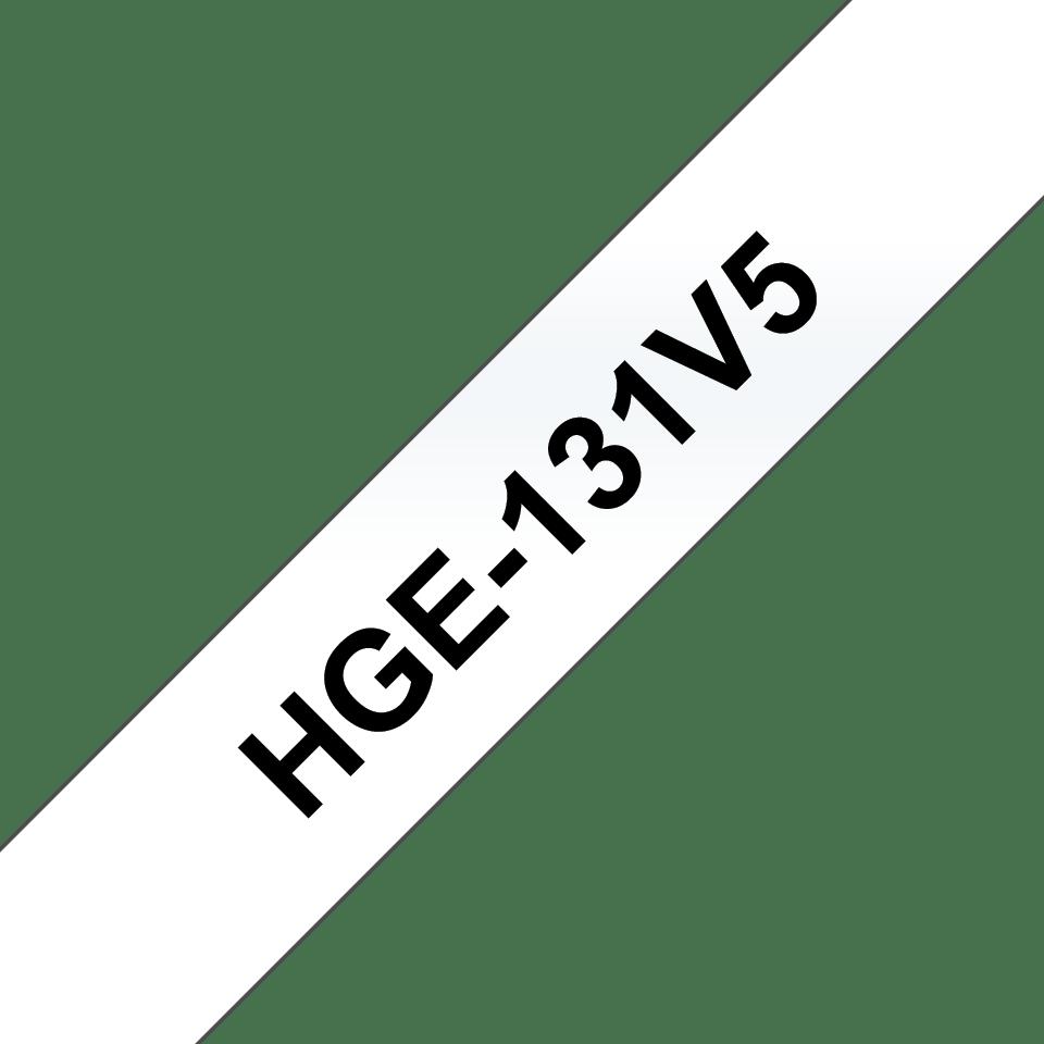 Original Brother HGe-131V5-tape – sort på klar, 12 mm bred