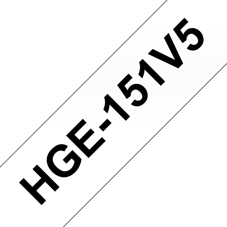 Original Brother HGe151V5 tape – sort på klar, 24 mm bred