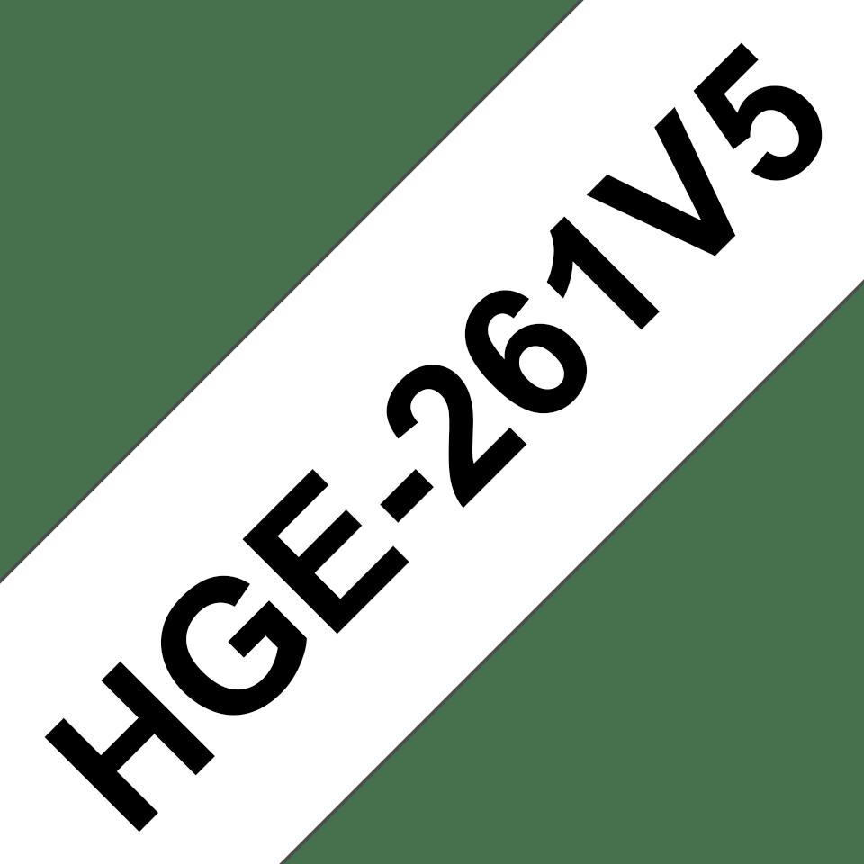 Original Brother HGE-261V5 tape – sort på hvid, 36 mm bred