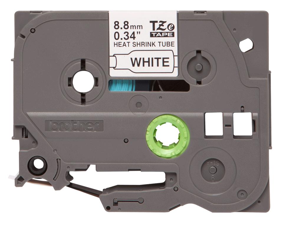 Original Brother HSe-221 krympeflexlabel – sort på hvid, 8,8 mm x 1,5 m