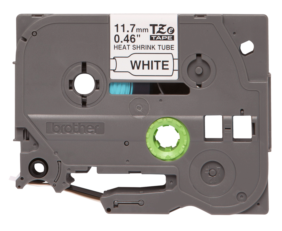 Original Brother HSe231 krympeflex tape – sort på hvid, 11,7 mm bred