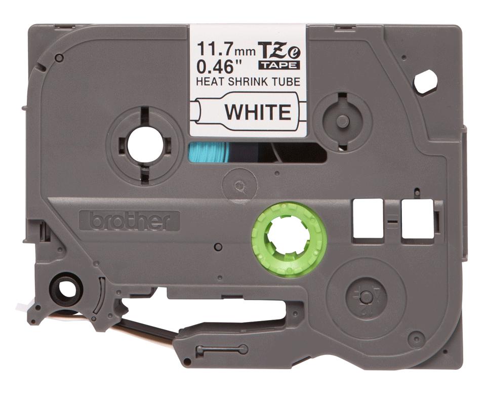 Original Brother HSe-231 krympeflextape – sort på hvid, 11,7 mm bred